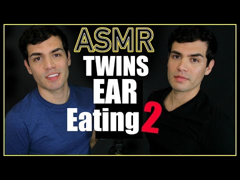 ASMR - Twins Ear Eating 2 (Male Whisper, Ears, Wet Mouth Nibbling for Sleep & Relaxation)