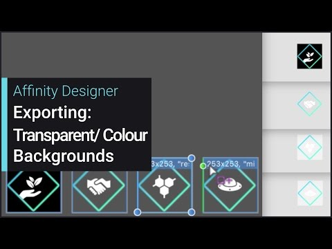 Exporting: Transparent and Coloured Backgrounds (Affinity Designer)