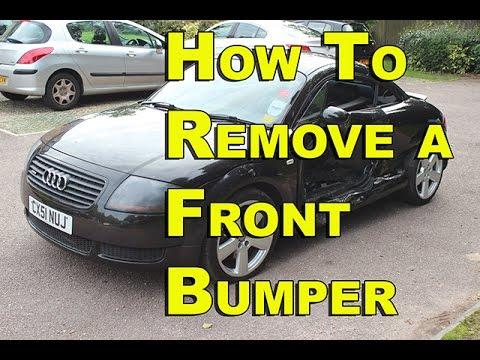 Audi TT front Bumper Removal 99-05