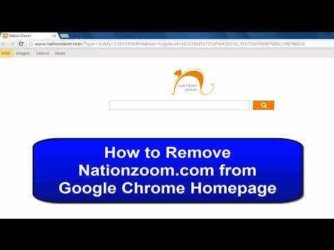 How to Remove Nation zoom from chrome homepage