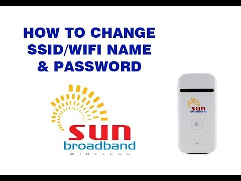 How to change WiFi name & Password of Sun broadband pocket wifi