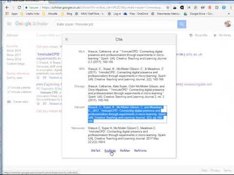 #417 Easy citations with Google Scholar
