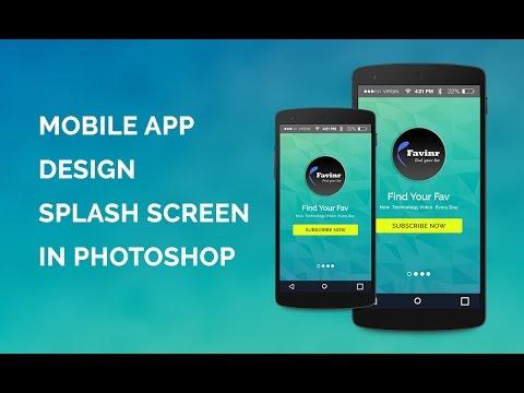 Mobile App Design splash screen design - In Photoshop
