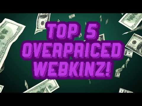 Top 5 OVERPRICED WEBKINZ!