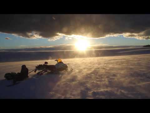 Snowkiting the Big Horns