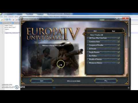 EU4 How to create a mod directory
