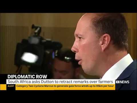 Peter Dutton creates diplomatic row with South Africa