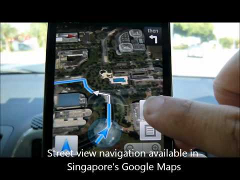Google Maps Voice Navigation in Singapore