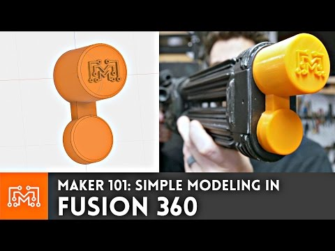 Fusion 360: Making a simple object for 3D printing  // Maker 101
