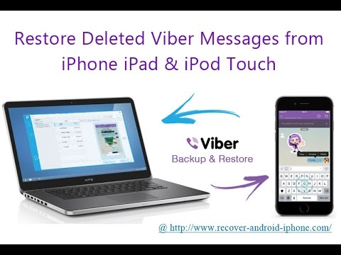Extract Viber Backup and Restore Deleted Viber Messages Chat History Photos to iPhone iPad iPod