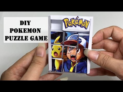 How to make DIY Pokemon Paper Craft Puzzle Game