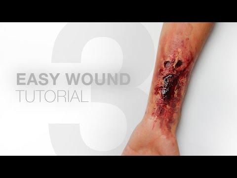 3 EASY WOUNDS without liquid latex – Makeup Tutorial – Alexander Kopainski