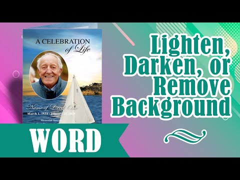 How To Lighten, Darken, or Remove Background Images Microsoft Word 2003