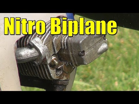 Tim's very old nitro RC bi-plane - WIN or FAIL ?