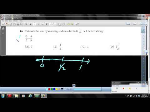 Objective 56   Estimate a fraction sum using benchmark numbers 0, 1 2, and 1