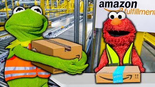 Kermit the Frog and Elmo's Amazon Fulfillment Store!