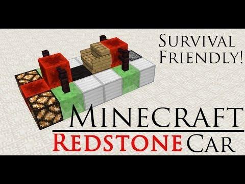 Minecraft Redstone Car (No Mods)