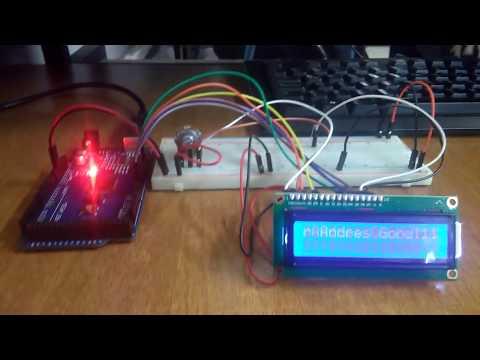 Arduino Montaje Uso LCD aviso en movimiento