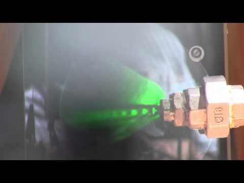 Schlieren steam nozzle test full 180 shock diamonds.wmv