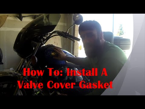 How To install a Motorcycle Valve cover gasket