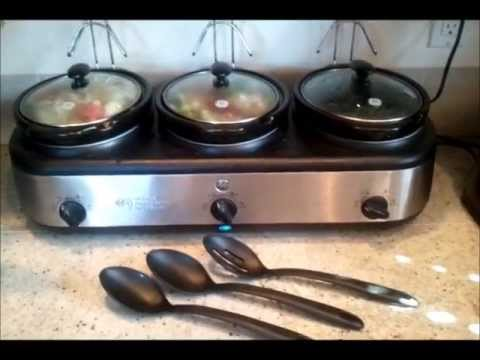 GE 3 Crock Slow Cooker Buffet Review