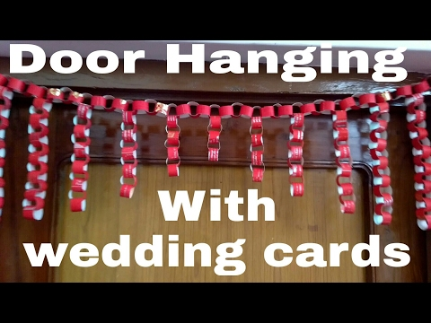 Door Decoration | Toran for diwali | How to make door hanging with wedding cards | HMA##007