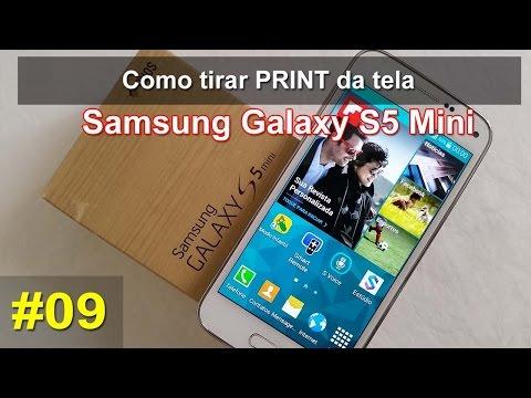 Samsung Galaxy S5 Mini - Screenshot ou Print Screen da Tela - Português