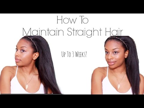 How To Maintain Straight Hair   Night Routine & Working Out