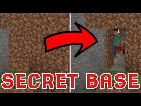 The Ultimate SECRET/HIDDEN BASE Trick For Minecraft PE 1.2.16+