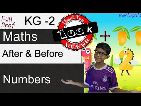 Kindergarten 2 (KG2 or K2) After and Before Numbers - Kids-Teaching-Kids