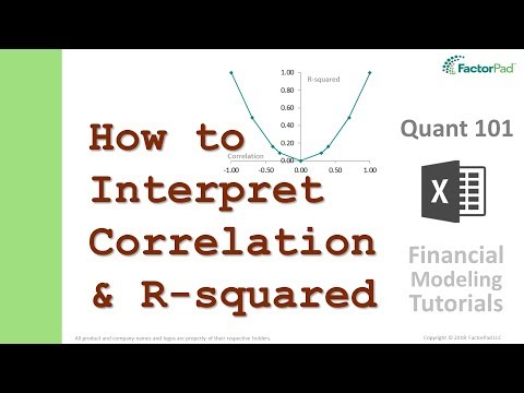 How to interpret Correlation and R-Squared | Financial Modeling Tutorials