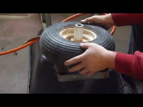 HOW TO FIX A WHEELBARROW FLAT EASY