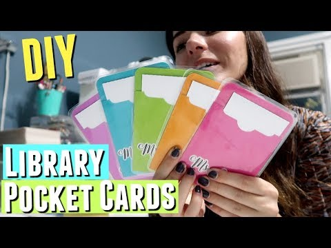 MAKING LIBRARY POCKET CARDS, DIY pocket folder using silhouette cameo