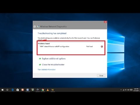 How to Fix Wifi Doesn't Have a Valid IP Configuration Error in Windows 10/8/7