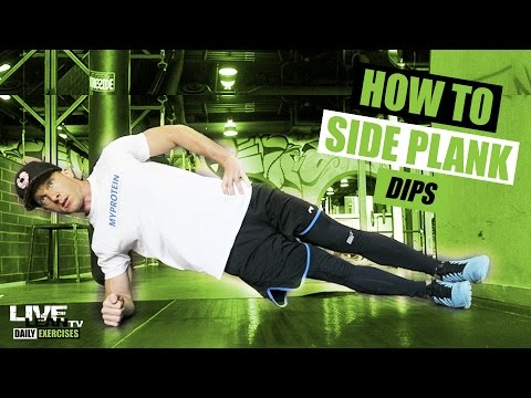 How To Do SIDE PLANK DIPS | Exercise Demonstration Video and Guide