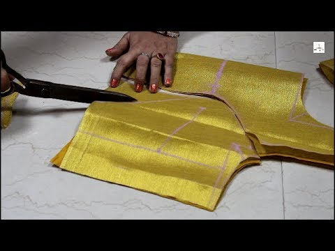 Three Pleated Princess Cut Blouse Cutting, how to make prince cut blouse, Part 1