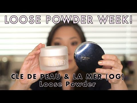 LOOSE POWDER WEEK! Cle de Peau & Original La Mer Loose Powder