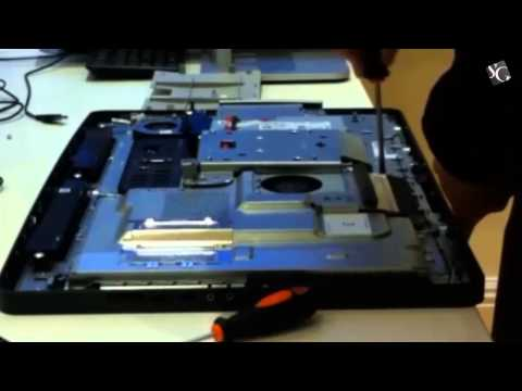 How to open a Dell Optiplex 9010 all in one computers to do a hard disk change