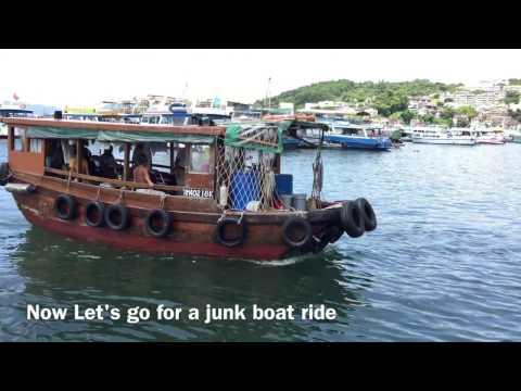 Junk boat ride in Hong Kong
