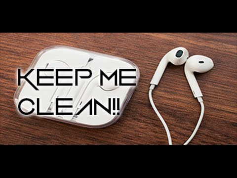 how to clean apple earphones