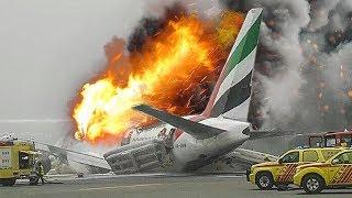 Desperate Escape   Boeing 777 Crash in Dubai   Emirates Airlines Flight 521   4K
