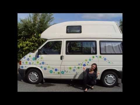 Hippy Motors unique car stickers, camper van decals, window stickers can make your love known