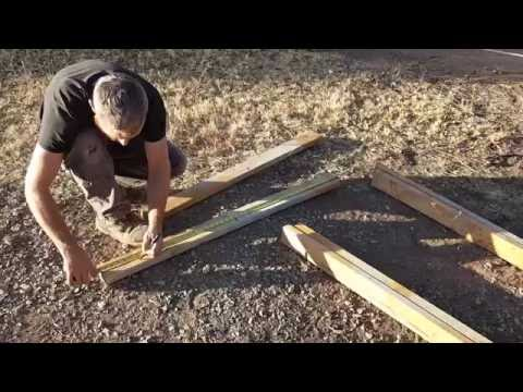 How To Construct A Swinging Sieve For Sand And Gravel