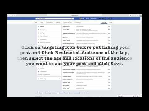 HOW TO USE AND ENABLE OR DISABLE AUDIENCE OPTIMIZATION FOR POSTS ON FACEBOOK PAGE
