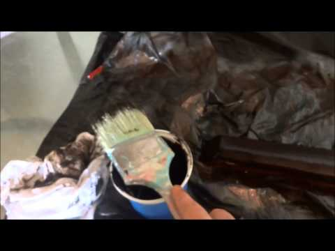 How To Apply Wood Stain With A Paint Brush And A Rag