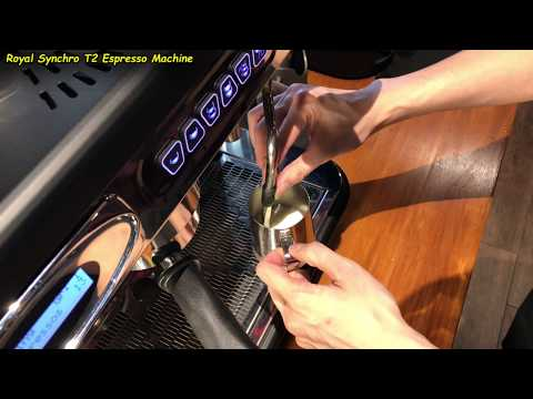 Auto-Froth Milk for 1 Cafe Latte (Using the Royal Synchro T2 Coffee Machine)