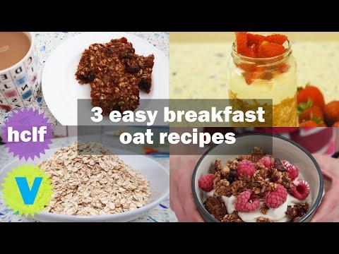 3 BREAKFAST OAT RECIPES | Easy & Healthy | Gluten & Sugar Free