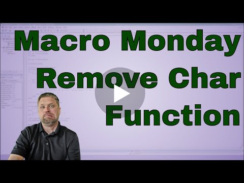 Macro Monday Function to Remove Characters