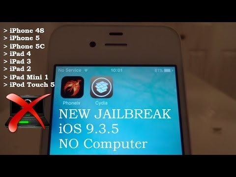 NEW How To JAILBREAK iOS 9.3.5 NO Computer iPhone 4S , 5 , 5C , iPad 4 , 3 , 2 Mini 1 , iPod Touch 5