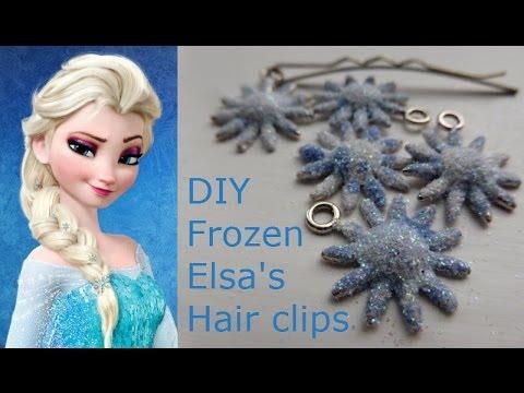 'Frozen' Elsa: DIY Hair Clips